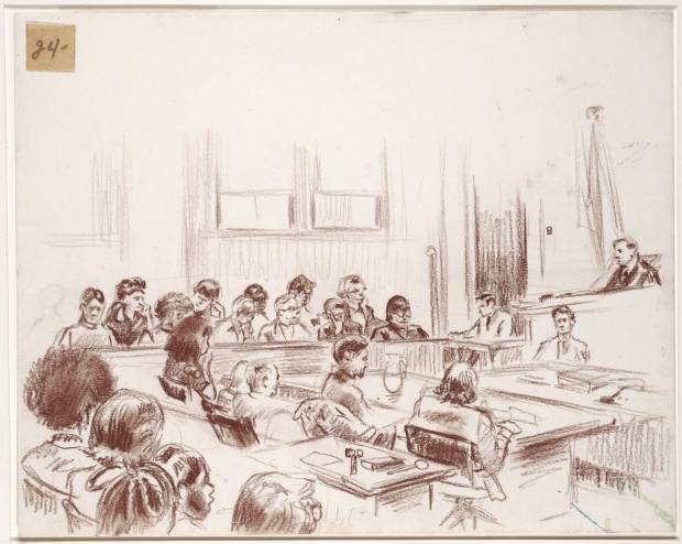 Sketch of a Courtroom- Creative Commons